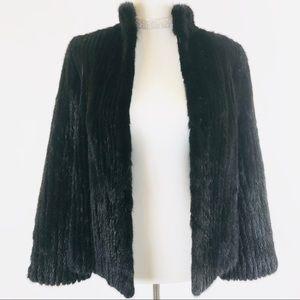 Saga murano mink black fur jacket